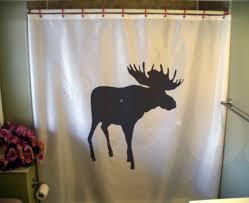 moose shower curtain elk palmate Canada Canadian north Alaska