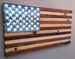American Flag Wall Decor Reclaimed Wood Rustic