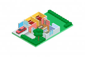 Home Design Exles Premium Vector Illustration Isometric Exles Of Home