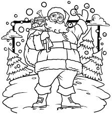 Christmas Coloring Pages Santa Pictures 19