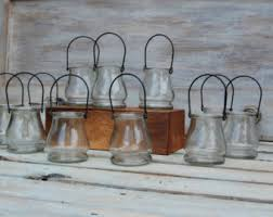 Rustic Candle Holders Flower Vase Shabby Chic Centerpiece