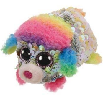 TY Teeny Flippable Rainbow Sequin Poodle Plush Toy - 4.5""