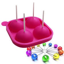 4 loch silikon kuchen pop mold mit klebt lutscher lolly machen form silikon lollipop schokolade backform eis tablett