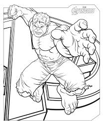 The Avengers Hulk Coloring Pages Super Heroes Of