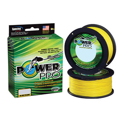 Power Pro 21100150300Y Spectra Fiber Braided Fishing Line - Yellow, 300yds