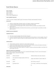 Example Social Work Resume Child Welfare Worker Sample New Examples