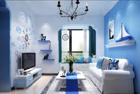 Nautical Style Living Room Furniture by Interior Contemporary Blue Mediterranean Style Home Interior