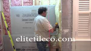 complete tile shower install part 1 furring out studs installing