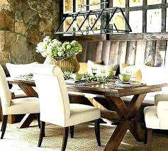 Rustic Elegant Chandelier Formal Dining Room Large Modern