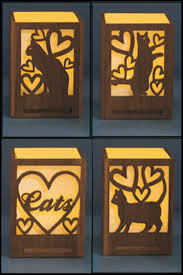 Laser Cut Lamp Dxf by Candle Holder Cats Decoration Box Light Cnc Cut File Vector Art