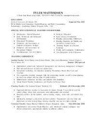 Elementary Teacher Resume Examples 2013 Special Needs Educator Bank Format Templates Free Sample Intended For Student Teaching