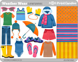 Weather Wear Digital Clip Art Personal And Commercial Use