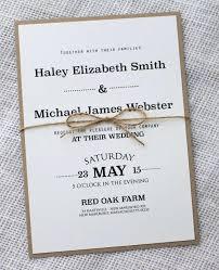 Simple Wedding Invite Modern Rustic Invitation Design This Chic Is