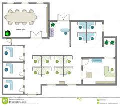 Free Floor Planning Business Floor Plan Stock Illustration Illustration Of