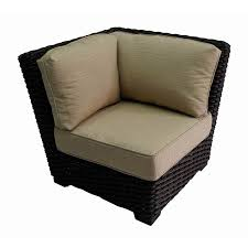 Allen And Roth Patio Cushions by Shop Allen Roth Blaney Brown Steel Patio Conversation Chair With