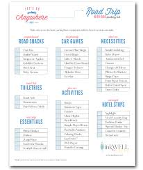 FREE Download For Road Trip With Kids Packing Checklist Includes Items You Need A Great