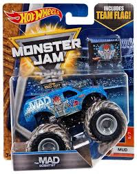 100 Monster Truck Hot Wheels Jam 164 Mad Scientist With Team Flag Mud