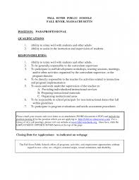 Paraprofessional Cover Letter Sample 5 Free
