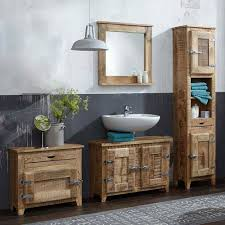 mango holz badezimmermöbel im set suennas 4 teilig