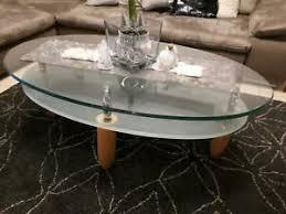 wohnzimmer glastisch oval möbel gebraucht kaufen ebay