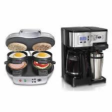Hamilton Beach Dual Breakfast Sandwich Maker 2 Way Digital 12 Cup Coffeemaker