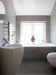 linen look tile bathroom contemporary with porcelain ribbed tiles