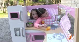 kidkraft grand gourmet corner kids toy kitchen unboxing review