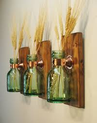 Farmhouse Style 1868 Green Honey Bottles Kitchen