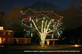 Outdoor Lights For Trees Tree Wrapped In Solar