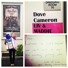 "In Liv & Mad 17 year old new er Dove Cameron plays the dual role of identical twins in this up ing sit Ms Cameron will also star in ""Cloud 9 "" a"