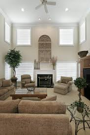 Brown Couch Living Room Decor Ideas by 54 Living Rooms With Soaring 2 Story U0026 Cathedral Ceilings