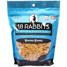 Can Bunny Rabbits Eat Pumpkin Seeds by 18 Rabbits Gracious Granola Organic Pecan Almond U0026 Coconut 11