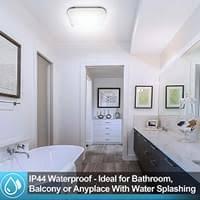 wolketon 12w led deckenleuchte badezimmer le 1080lm flimmerfrei led panel deckenle 6500k kaltweisse blendfrei