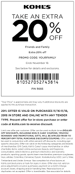 Kohls Coupons - 20% Off At Kohls, Or Online Via Promo Code ... Kohls Mystery Coupon Up To 40 Off Saving Dollars Sense Free Shipping Code No Minimum August 2018 Store Deals Pin On 30 Code 10 Off Coupon Discover Card Goodlife Recipe Cat Food Current Codes Rules Coupons With 100s Of Exclusions Questioned Three Days Only Get 15 Cash For Every 48 You Spend Coupons Bradsdeals Publix Printable 27 The Best Secrets Shopping At Money Steer Clear Scam Offering 150 Black Friday From Kohls Eve Organics