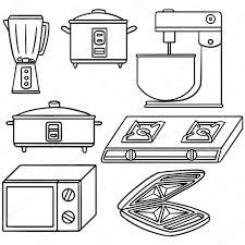 Vector Set Of Kitchen Appliances Stock