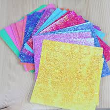 50Pcs Square Origami Paper Single Sided Solid Color Shining Papers DIY Kids Folded Craft Scrapbooking