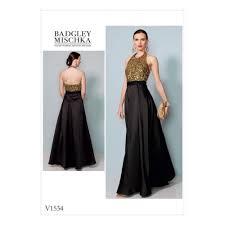 vogue sewing pattern misses designer halter evening dress size 6