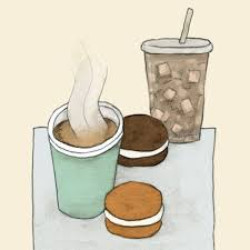 Drawing My Dates Hot Tea Iced Coffee And Whoopie Pies