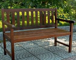 plain curved garden bench horizontal slat back outdoor wood