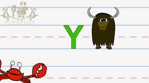 Write the letter Y Alphabet Writing lesson for children