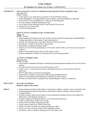 Activity Coordinator Resume Samples | Velvet Jobs High School Resume 2019 Guide Examples Extra Curricular Acvities On Your Resume Mplate Job Inquiry Letter Template Fresh Hard Removal Best Section Beefopijburgnl Cover For Student 8 32 Cool Co In Sample All About Professional Ats Templates Experienced Hires And College For Application Of Samples Extrarricular New Professional Acvities Sazakmouldingsco Career Center Rochester Academy
