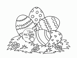 Easter Eggs Coloring Pages Child Picture Page