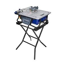 amazon com kobalt 7 bench tile saw with stand kb7004 everything