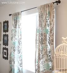 a possibility for my living room painted and stenciled curtain ideas