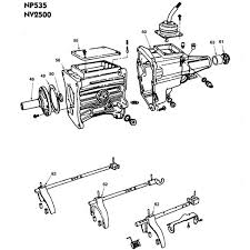 NP535 NV2500 Dodge Pickups and Dakota Parts Illustration