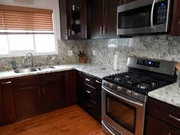 Espresso Kitchen Cabinets Wood Floor Contemporary