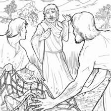 1000 Images About Bible NT Fishing With Jesus Coloring Pages Of And Disciples