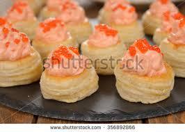 mousse canape canape salmon mousse caviar stock photo 356892866