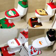 details zu weihnachten dekoration toilettendeckelbezug badematte badteppich badezimmer set