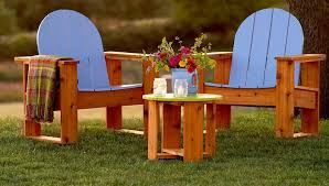 Plans For Yard Furniture by 15 Free Adirondack Chair Plans To Build At Home